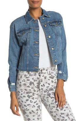 Joe's Jeans Front Button Crop Jean Jacket