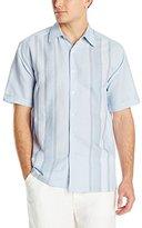 Cubavera Men's Short-Sleeve Contrast-Panel Woven Shirt
