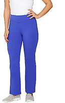 As Is Denim & Co. Active Petite Duo-Stretch Boot Cut Pants
