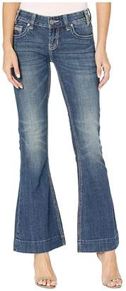 Rock and Roll Cowgirl Low Rise Trousers in Medium Vintage W8-2530 (Medium Vintage) Women's Jeans