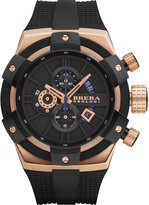 Brera Orologi Black Dial SS Rubber Chronograph Quartz Men's Watch BRSSC4902