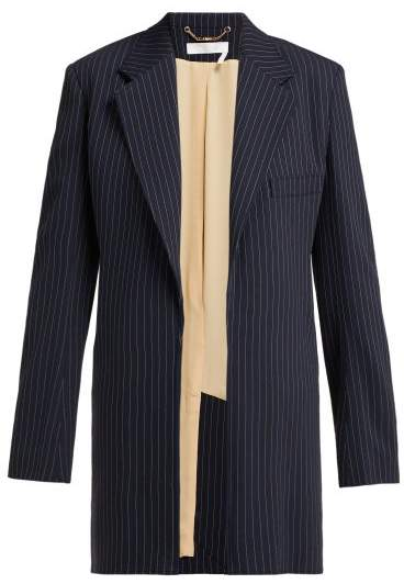 c45c72e6 Tennis Single Breasted Pinstriped Crepe Jacket - Womens - Navy Stripe