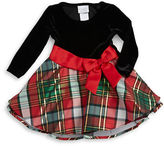 Iris & Ivy Girls 2-6x Velvet and Plaid Dress