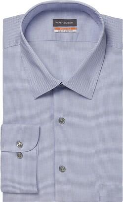 Van Heusen Mens Big Fit Stain Shield Stretch (Big and Tall) Dress Shirt