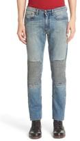 Belstaff Men's Blackrod Straight Fit Faded Moto Jeans