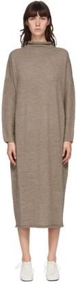LAUREN MANOOGIAN Brown Oversize Rollneck Dress