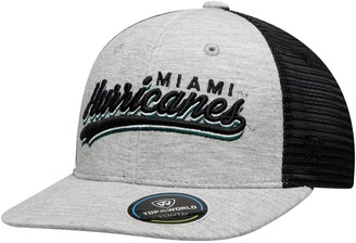 Top of the World Unbranded Youth Gray Miami Hurricanes Cutter Adjustable Hat