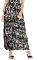 Kasper Printed Knit Maxi Skirt