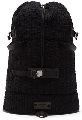 Dolce & Gabbana Textured Drawstring Backpack