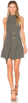 Shona Joy La Luna High Neck Mini Dress