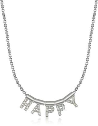 Nomination Sterling Silver and Swarovski Zirconia Happy Necklace