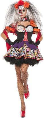 Starline Women's Day of The Dead 4 Piece Costume Dress Set