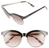 Tom Ford Women's 'Angela' 53Mm Retro Sunglasses - Shiny Black/ Gradient Brown