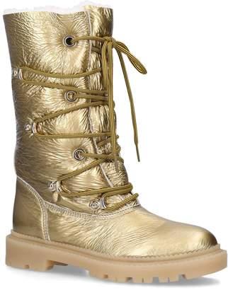 Casadei Metallic Knee-High Boots