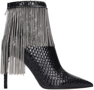 Balmain Mercy Ankle Boots In Black Leather