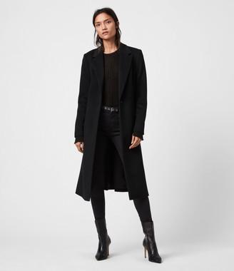 AllSaints Wade Wool-Silk Blend Coat