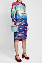 Mary Katrantzou Printed Silk Dress with High-Low Hem