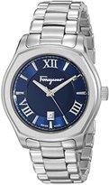 Salvatore Ferragamo Men's FQ1960015 Lungarno Analog Display Quartz Silver-Tone Watch