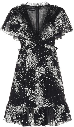 Giambattista Valli Ruffled printed silk minidress