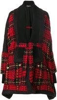 Balmain oversized tweed cape coat