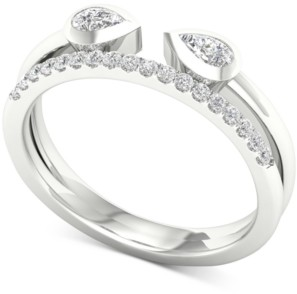 Macy's Diamond Wrap Statement Ring (1/3 ct. t.w.) in 14k White Gold