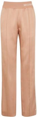 Moncler Dusky Pink Striped Satin Sweatpants
