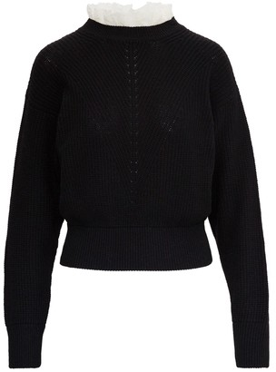 RED Valentino Viscose Blend Sweater With Lace Detail