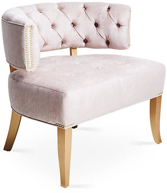 Haute House Babette Accent Chair - Lilac Chenille