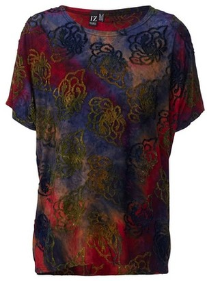 Dorothy Perkins Womens Izabel London Multi Coloured Abstract Print T