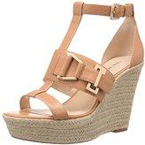 Nine West Women's Jellia Leather Wedge Sandal
