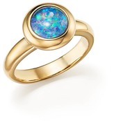 Bloomingdale's Opal Triplet Bezel Set Ring in 14K Yellow Gold