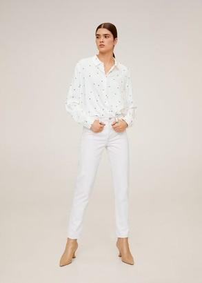 MANGO Polka-dot flowy shirt