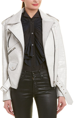 Givenchy Crackled Leather Moto Jacket