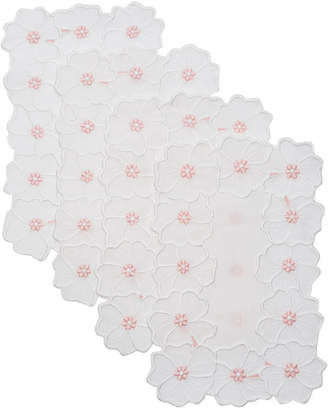 ATELIER HOURIA TAZI Set Of 4 Pensee Cocktail Napkin