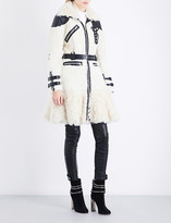 Alexander McQueen Shearling and leather coat