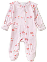 Angel Dear Baby Girls Newborn-6 Months Counting Sheep Ruffle-Sleeve Footed Coverall