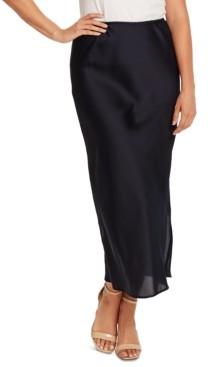 Vince Camuto Charmeuse Side-Slit Maxi Skirt
