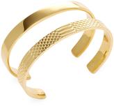 Noir Women's Snake Gold Bracelets (Set of 2)