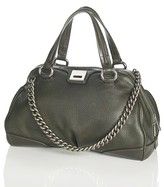 Women's Grained Leather Boston Satchel