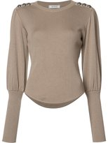 Christian Dada button detail jumper - women - Viscose/Wool - 38