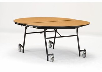 """72"""" Elliptical Cafeteria Table National Public Seating Frame Finish: Chrome, Tabletop Color: Holly Berry"""