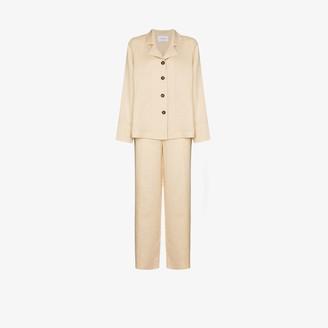 Sleeper Buttoned Linen Pyjamas