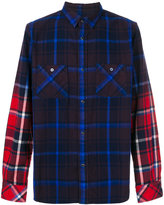 Sacai plaid contrast sleeve shirt