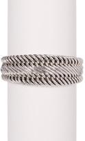 Lois Hill Sterling Silver Figure 8 Tapered Granulated End Bracelet