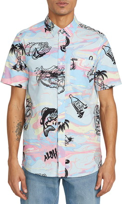 Volcom Save Our Oceans Short Sleeve Button-Up Shirt