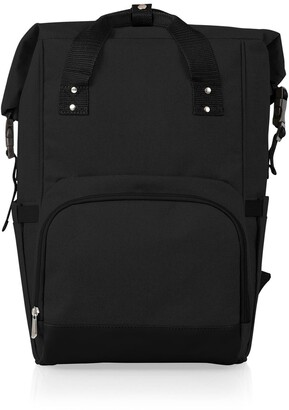 Picnic Time OTG Roll-Top Cooler Backpack - Black