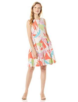 Taylor Dresses Women's Sleeveless Abstract Print Fit and Flare Dress