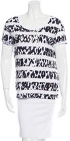 Sandro Abstract Print Crew Neck T-Shirt