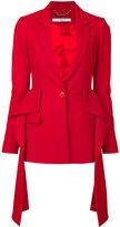 Givenchy draped blazer - women - Viscose/Wool - 34