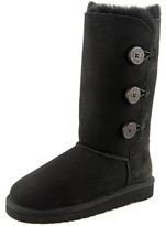 UGG Bailey Button Triplet Youth US 6 Black Winter Boot UK 5